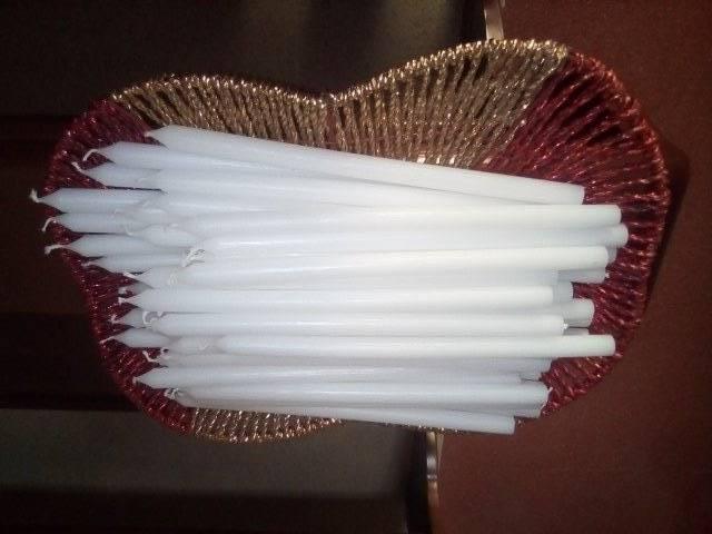 un cesto di candele per la Candelora