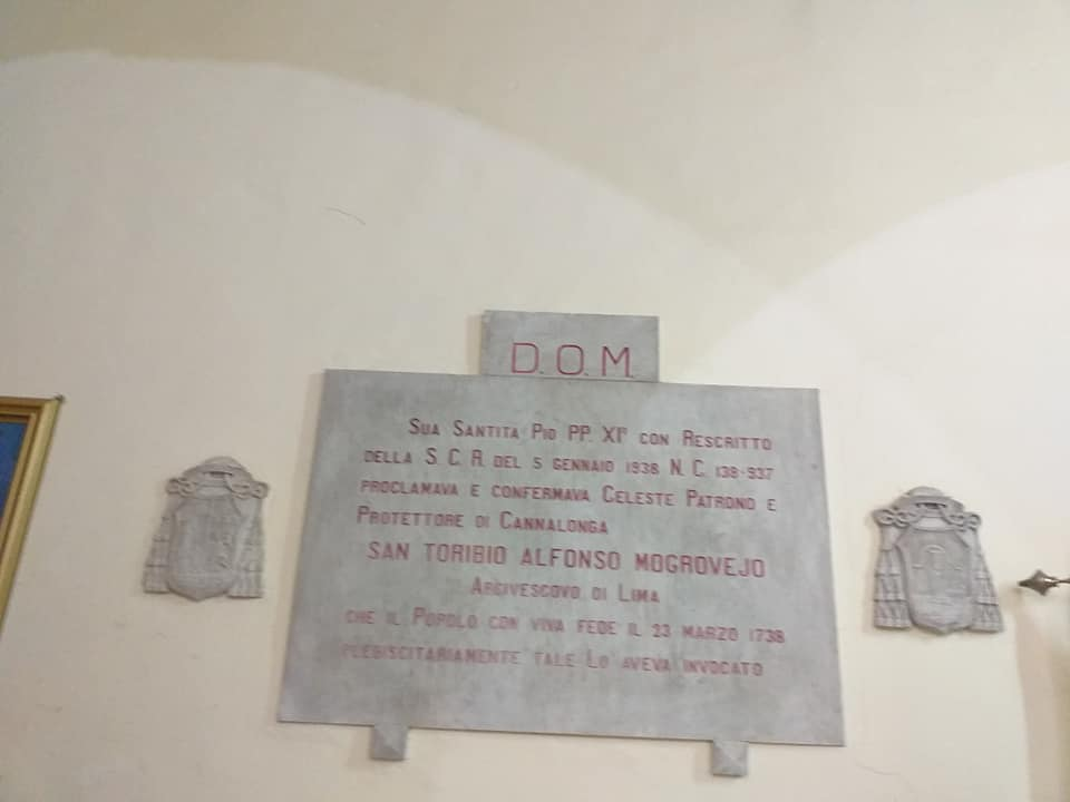 Cannalonga, lapide nella chiesa parrocchiale