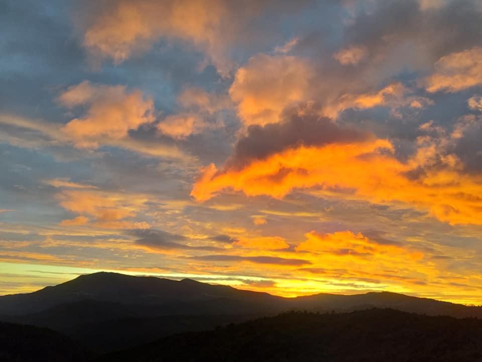tramonto sul Monte Stella