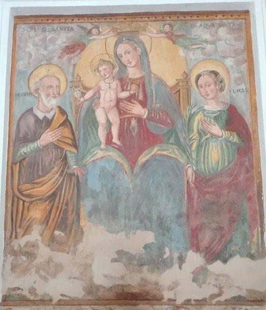 Acquasanta, affresco della Madonna
