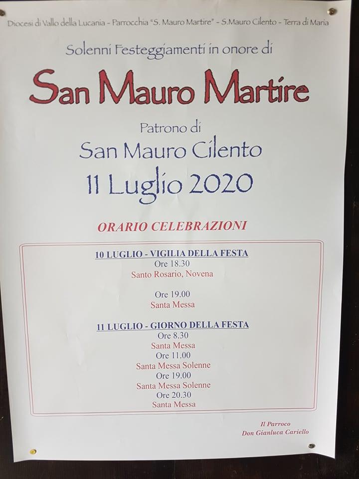 San Mauro Cilento, programma festività 2020