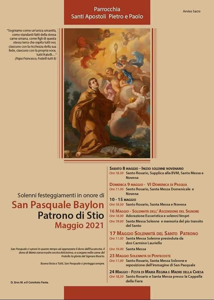 Stio, San Pasquale - 17 maggio 2021